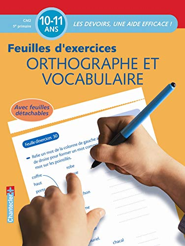 9782803451784: Orthographe et vocabulaire CM2 5e primaire : Feuilles d'exercices
