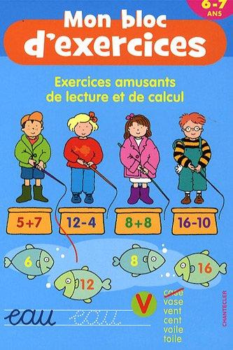 9782803452071: Exercices amusants de lecture et de calcul 6-7 ans