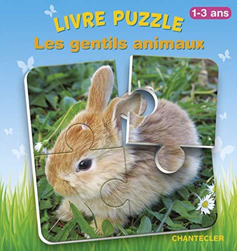 9782803453955: Livre puzzle - Les gentils animaux : 1-3 ans