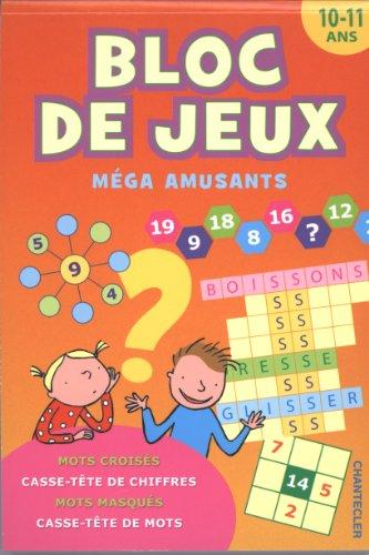 9782803454044: Bloc de jeux méga amusants : 10-11 ans