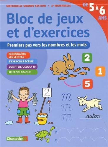 9782803456451: Bloc de Jeux et d'Exercices - Nombres et Mots (5-6 a.)
