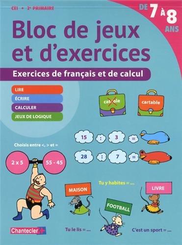 9782803456482: Bloc de Jeux et d'Exercices - Français et Calcul (7-8 a.)
