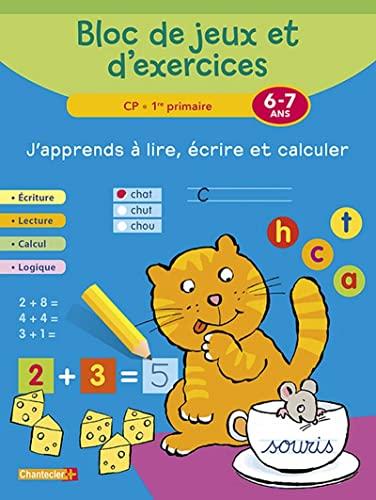 J APPRENDS A LIRE ECRIRE ET CALCULER: BLOC JEUX ET EXERCIC