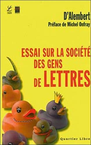 9782804023287: Essai sur la soci�t� des gens de lettres et des grands : Sur la r�putation, sur les m�c�nes et sur les r�compenses litt�raires