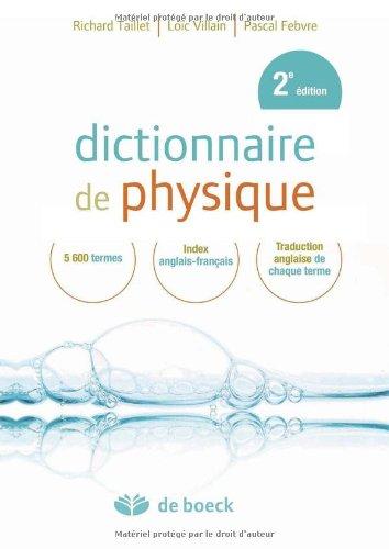 9782804102487: Dictionnaire de physique