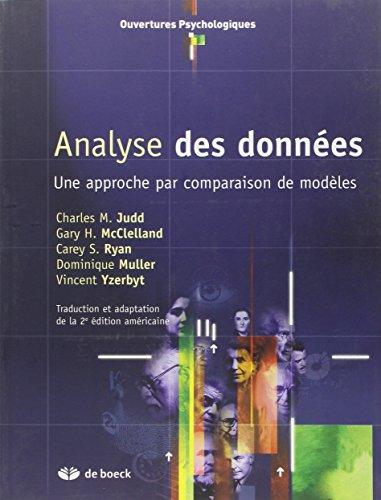 L'analyse de données : une approche par: Charles m. Judd;