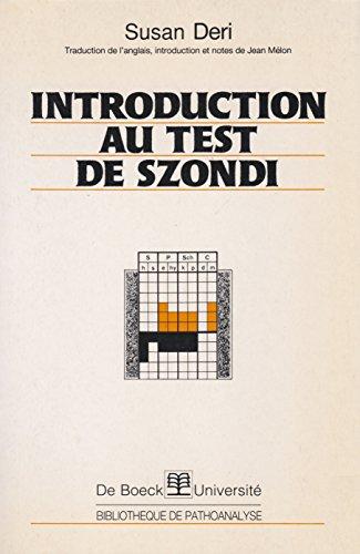 9782804115180: Introduction au test de Szondi