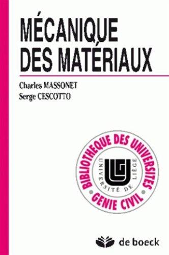 Mécanique des materiaux [Oct 20, 1994] Massonnet
