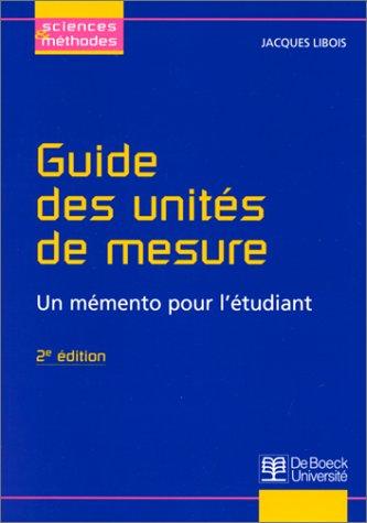 9782804120559: guide unites de mesure