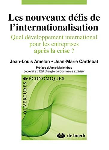 9782804122584: développement international de l'entreprise dans le nouveau contexte mondial