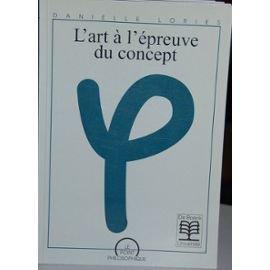 9782804123109: L'art a l'epreuve du concept (Le Point philosophique) (French Edition)