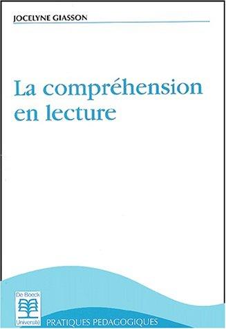 9782804123536: La compréhension en lecture, 2e édition