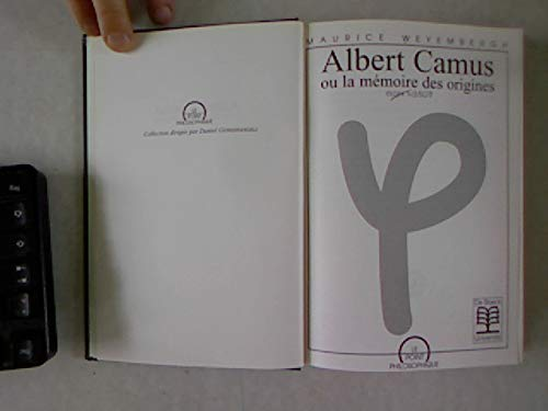 9782804126803: Albert Camus, ou, La mémoire des origines (Le point philosophique) (French Edition)