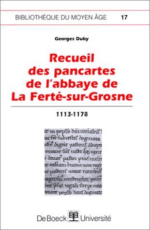 9782804134679: recueil des pancartes de l'abbaye de la ferte sur grosne
