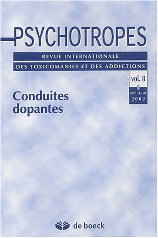9782804139025: Psychotropes Volume 8 N° 3-4 2002 : Conduites dopantes