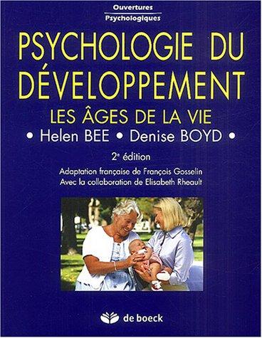 9782804142520: Psychologie du développement : Les âges de la vie