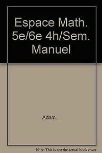 9782804142896: Espace Math. 5e/6e 4h/Sem. Manuel