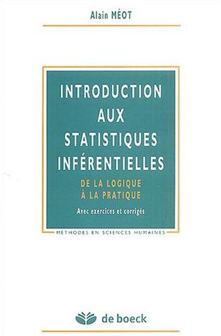 9782804143619: introduction aux statistiques diferentielles de la logique a la pratique