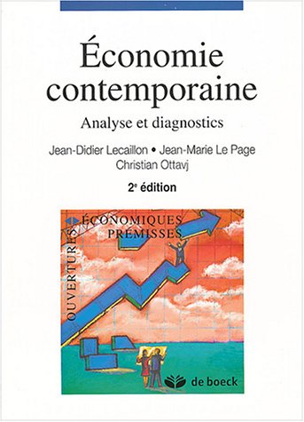 9782804144753: Economie contemporaine : Analyse et diagnostics