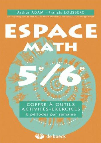 9782804145552: Espace Math 5e/6e 6h/Sem - Exercices - Coffre a Outils - Activites - Exercices Coffre a Outils - Act