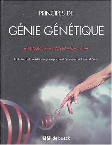 9782804145903: principes de genie genetique