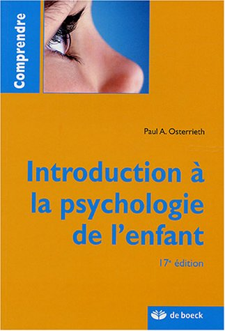 9782804147730: Introduction à la psychologie de l'enfant