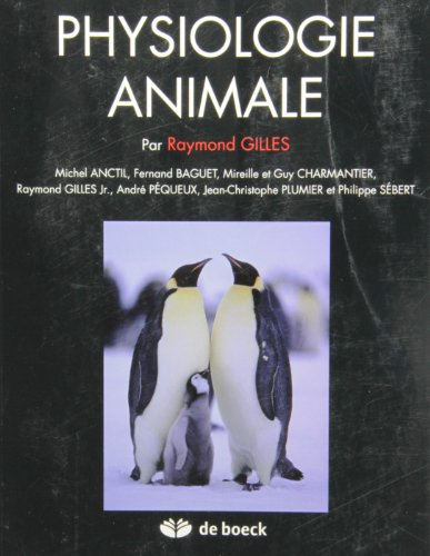 9782804148935: Physiologie animale