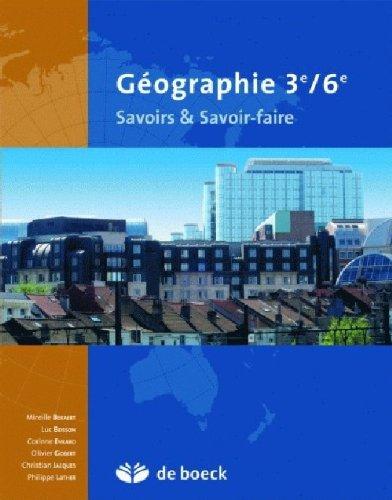 9782804150037: Geographie-Savoirs Savoir-Faire 3e/6e les Territoires-Societes