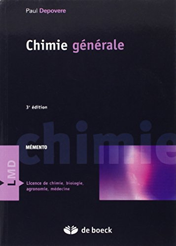 9782804150297: chimie generale (3e edition)