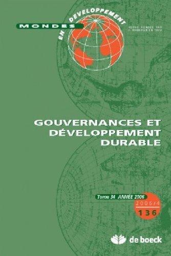 9782804151386: gouvernance et développement durable
