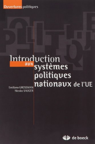 9782804153403: Introduction aux syst�mes politiques nationaux de l'UE