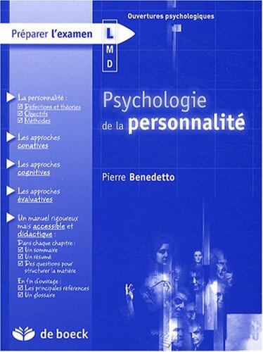 Psychologie de la personnalité: Pierre Benedetto