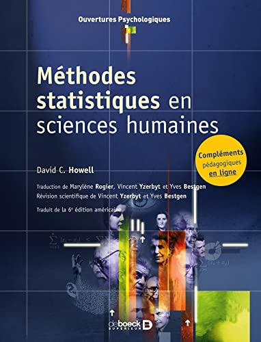méthodes statistiques en sciences humaines (2e édition) (2804156850) by David C. Howell