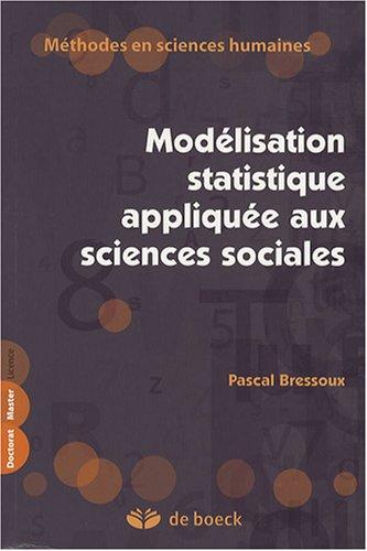 9782804157142: Modélisation statistique appliquée aux sciences sociales