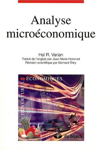 9782804158231: analyse microeconomique