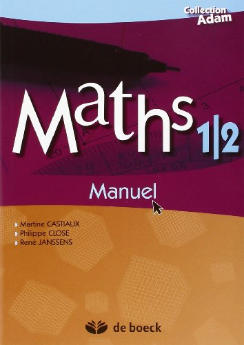 9782804158521: Maths 1/2 / Manuel de Reference