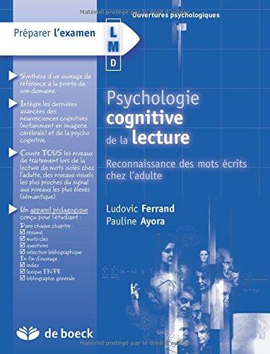 9782804159030: Psychologie cognitive de la lecture : Reconnaissance des mots écrits chez l'adulte