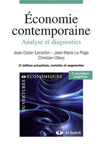 9782804159559: Économie contemporaine : Analyse et diagnostics