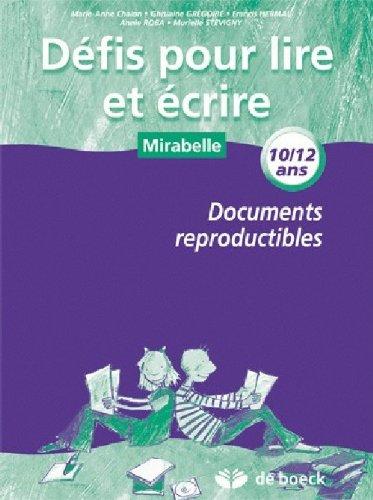 9782804159719: defis pour lire et ecrire 5e/ 6e 10/12an - banque d'exercices reproductibles banque d'exercices repr