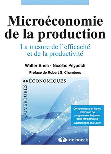 9782804161835: Microéconomie de la production mesure efficacité et productivité