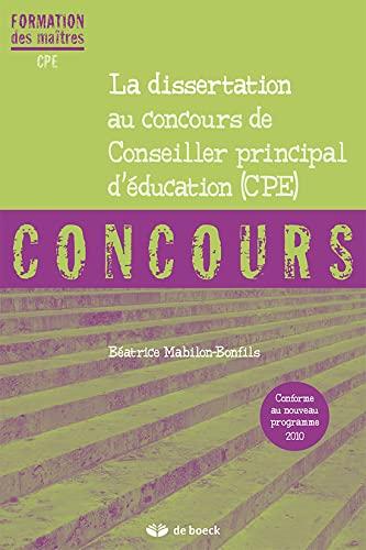 9782804162122: La Dissertation au Concours de Cpe