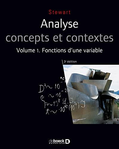 9782804163068: Analyse concepts et contextes, Volume 1 : Fonctions d'une variable