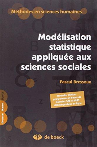 9782804163648: Modélisation statistique appliquée aux sciences sociales