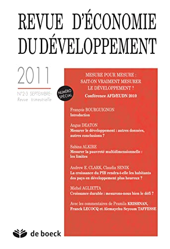 9782804165031: Revue d'�conomie du d�veloppement, N� 2-3, Septembre 20 : Mesure pour mesure : sait-on vraiment mesurer le d�veloppement ? : Conf�rence AFD/EUDN 2010