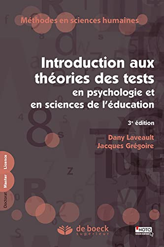 INTRODUCTION AUX THEORIES DES TESTS: LAVEAULT 3E ED 2014