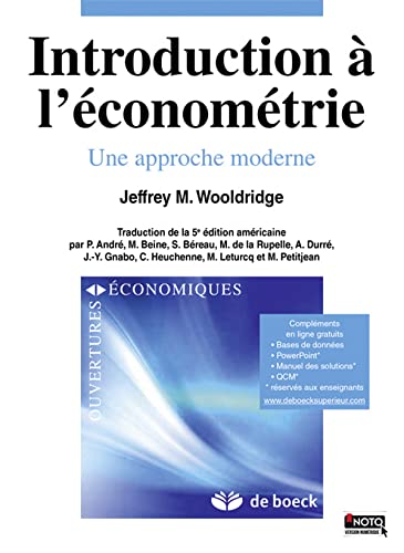 9782804171315: Introduction à l'économétrie : Une approche moderne (Ouvertures économiques)
