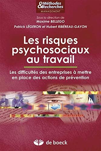 9782804173425: Les risques psychosociaux au travail : Les difficult�s des entreprises � mettre en place des actions de pr�vention