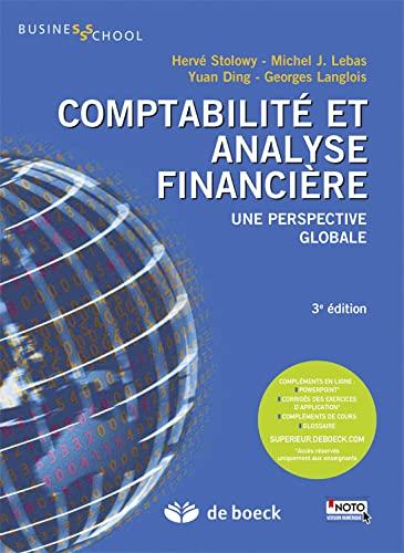 9782804174996: Comptabilité et analyse financière - Une perspective globale