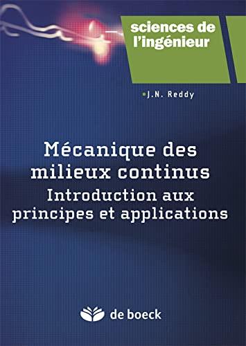 MECANIQUE DES MILIEUX CONTINUS: REDDY 1RE ED 2013