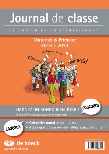 9782804176785: Journal de Classe 2013-2014